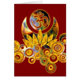 Om Lotus & GAYATRI MANTRA inside Card