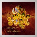 Om Lotus & GAYATRI MANTRA | universe of fire Poster