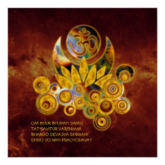 Om Lotus & GAYATRI MANTRA | universe of fire Poster