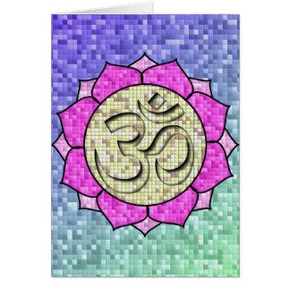 Om Lotus Mosaic Card