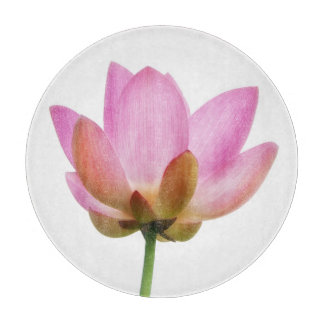 Om Lotus Pink Flower Petals Cutting Boards