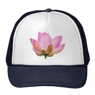 Om Lotus Pink Flower Petals Mesh Hats