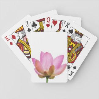 Om Lotus Pink Flower Petals Deck Of Cards