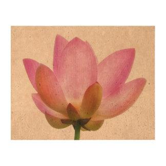 Om Lotus Pink Flower Petals Cork Paper Print