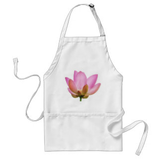 Om Lotus Pink Flower Petals Standard Apron