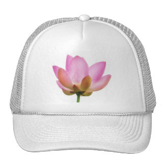 Om Lotus Pink Flower Petals Trucker Hat