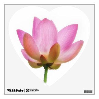 Om Lotus Pink Flower Petals Wall Sticker