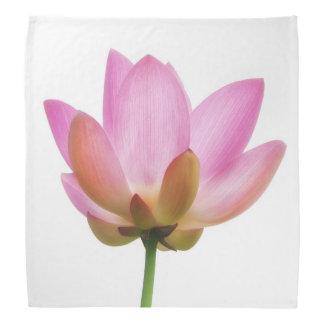 Om Lotus Pink Flower Petals Bandannas