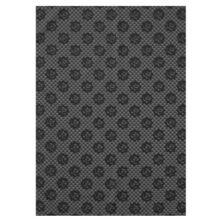 OM Lotus Spirituality Yoga in Carbon Fiber Style Tablecloth