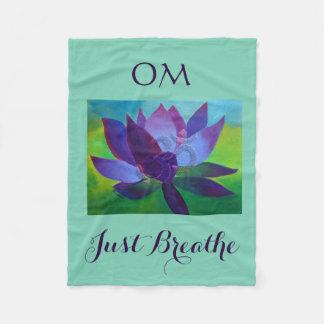 OM Lotus Yoga Fleece Blanket