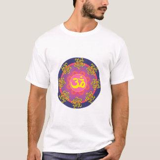 Om Mandala Blue Border T-Shirt