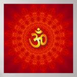 Om Mandala Design Poster