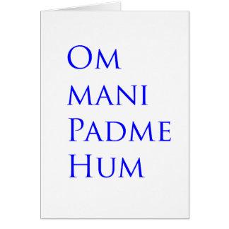 Om Mani Padme Hum Card