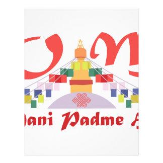 Om Mani Padme Hum Letterhead Design