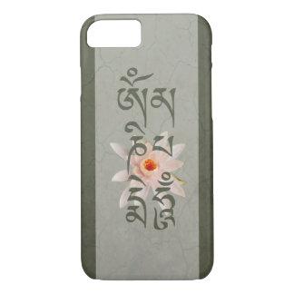 Om Mani Padme Hum Lotus - Blue-Green Case-Mate iPhone Case