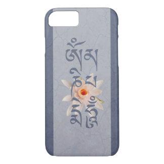 Om Mani Padme Hum Lotus - Blue iPhone 8/7 Case