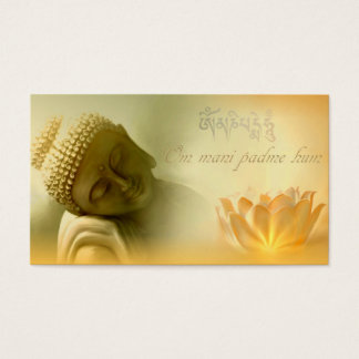Om mani padme hum -Mantra Card