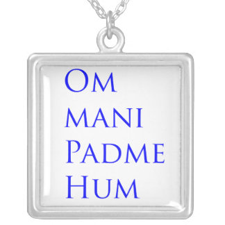 Om Mani Padme Hum Silver Plated Necklace
