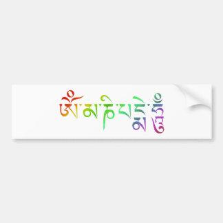 Om Mani Padme Hum Tibetan Mantra Rainbow Bumper Sticker