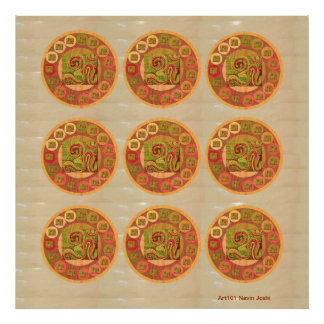 OM MANTRA -  108 x 9 OmMantra Scribbled Print