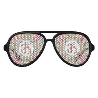 Om Mantra Jewel Collection Aviator Sunglasses