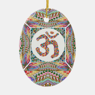 Om Mantra Jewel Collection Ceramic Ornament