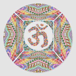 Om Mantra Jewel Collection Classic Round Sticker