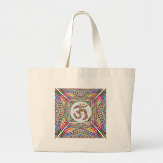 Om Mantra Jewel Collection Large Tote Bag