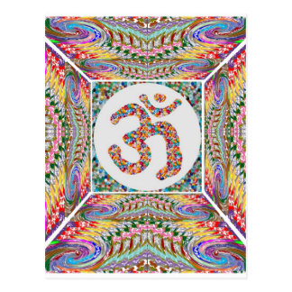 Om Mantra Jewel Collection Postcard
