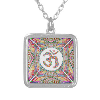 Om Mantra Jewel Collection Silver Plated Necklace