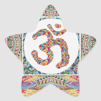 Om Mantra Jewel Collection Star Sticker