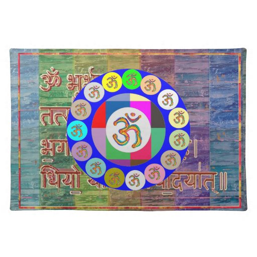 OM MANTRA OmMantra Chant Art Collection Placemats