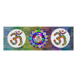 Om Mantra OmMantra Round Poster