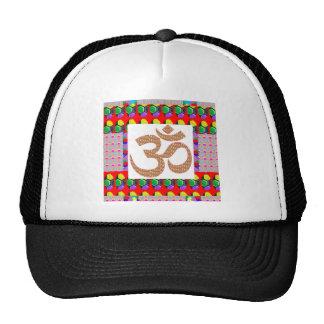 OM Mantra OmMANTRA Yoga Meditation Symbol Hinduism Hats