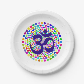 OM Mantra Paper Plate 7 Inch.