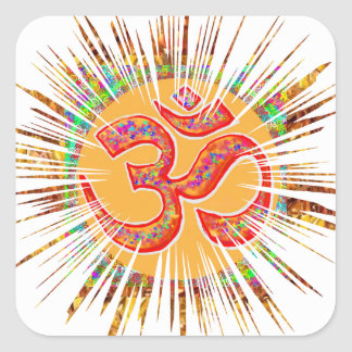 OM MANTRA Sparkle Square Sticker