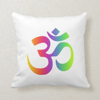 Om Namaste Yoga Symbol Meditation Pinback Pillow