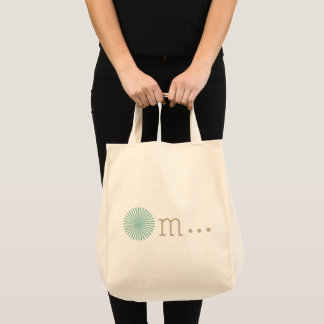 Om natural beige tote bag