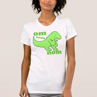 om nom nom dinosaur eats t-shirts