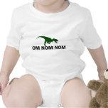 Om Nom Nom Dinosaur Rawr is Hungry Baby Bodysuits