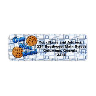 Om Nom Nom, Meme Love Cookies Return Address Label