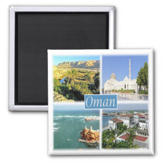 OM - Oman - Collage Mosaic Magnet