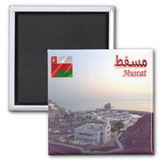 OM - Oman - Mascate - Boat Club Square Magnet