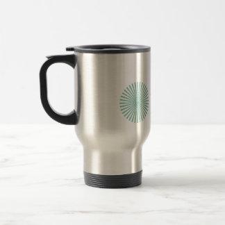 Om optical illusion spiral travel mug