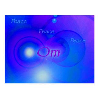 Om ~ Peace Postcard