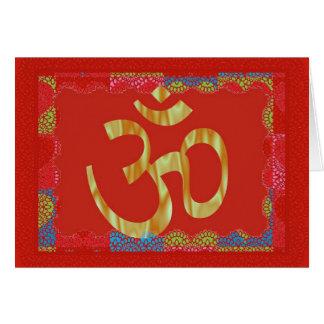 Om red hindu greeting card