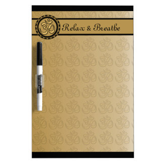 Om Relax & Breathe Dry Erase Board Medium w/ Pen
