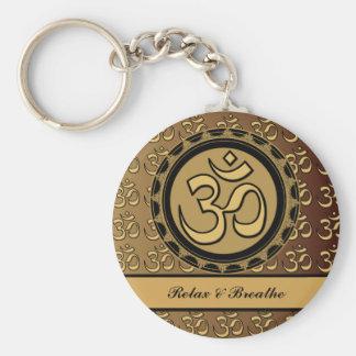 Om Relax & Breathe Keychain
