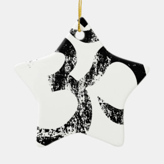 Om Rubber SDtamp Ceramic Star Ornament