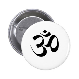 OM - SANSCRIT FOR PEACE 2 INCH ROUND BUTTON